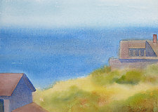 Monhegan Space I by Suzanne Siegel (Watercolor Painting)