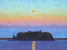 Moon Over Island II by Suzanne Siegel (Pigment Print)