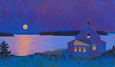 Moonrise, Stonington I by Suzanne Siegel (Giclee Print)
