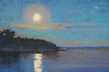Moonrise, Belfast by Suzanne Siegel (Giclee Print)