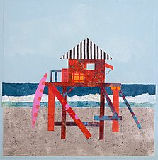 A Day at the Beach I by Suzanne Siegel (Giclee Print)