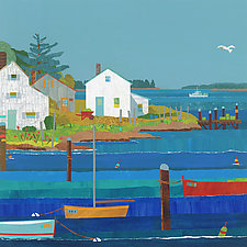 Sunny Harbor I by Suzanne Siegel (Giclee Print)