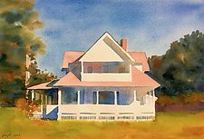 Summer Porches by Suzanne Siegel (Watercolor Painting)