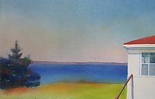 Walking Stick II by Suzanne Siegel (Paintings & Drawings Watercolor Paintings)