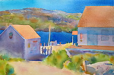 Waiting, Monhegan by Suzanne Siegel (Watercolor Painting)