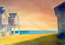 Beach Sunset, Madison by Suzanne Siegel (Paintings & Drawings Watercolor Paintings)