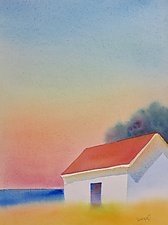 Deer Isle View by Suzanne Siegel (Watercolor Painting)