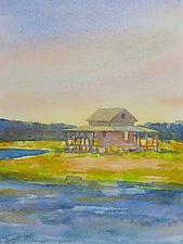 Grass Island by Suzanne Siegel (Watercolor Painting)