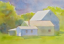 Barns, Maine by Suzanne Siegel (Watercolor Painting)