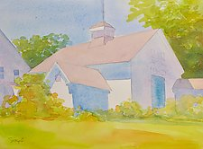 Kennebunk Barns by Suzanne Siegel (Watercolor Painting)