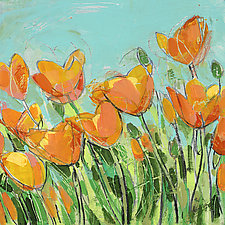 Summer Poppies by Sarah Samuelson (Giclee Print)