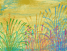 Abstract Grass Forms 4 by Hal Mayforth (Giclee Print)