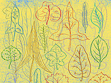 Abstract Leaf Forms 1 by Hal Mayforth (Giclee Print)