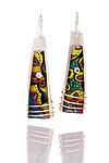 Cooper Earrings by Sue Savage (Silver & Polymer Clay Earrings)