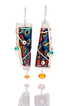Large Sandy Earrings by Sue Savage (Silver & Polymer Clay Earrings)