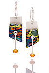 Peggy Earrings by Sue Savage (Silver & Polymer Clay Earrings)