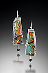 Magdalena Earrings by Sue Savage (Silver & Polymer Clay Earrings)