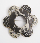 Wholioli Brooch by Louise Fischer Cozzi (Polymer Pin)