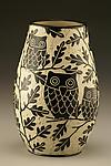 Owl Family Vase: Small by Jennifer  Falter (Ceramic Vase)
