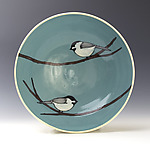 Chickadee Bowl by Lacey Goodrich (Ceramic Bowl)