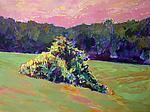 Summer Cornfield by Leonard Moskowitz (Acrylic Painting)