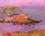Pink Sky, Lavender Coast by Leonard Moskowitz (Acrylic Painting)
