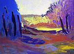 Blue Pathway by Leonard Moskowitz (Acrylic Painting)