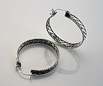 Filigree Hoop Earrings by Ashley Vick (Silver Earrings)