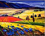 Galilee, Landscape by Maya Green (Oil Painting)