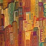 City Abstract II by Maya Green (Acrylic Painting)