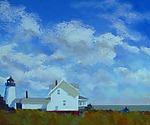 High Clouds, Pemaquid by Suzanne Siegel (Pigment Print)