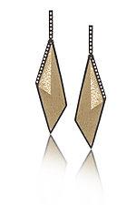 Gem Link Diamond Drops by Elizabeth Garvin (Gold, Silver & Stone Earrings)
