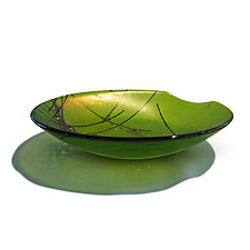 Iridescent Stringer Series - Lime by Gregg Mesmer and Diane Bonciolini (Art Glass Bowl)