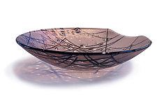 Iridescent Stringer Series - Mauve by Gregg Mesmer and Diane Bonciolini (Art Glass Bowl)