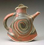 Spiral Teapot by Kaete Brittin Shaw (Porcelain Teapot)