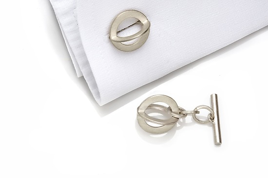 Silver Sphere Cuff Links