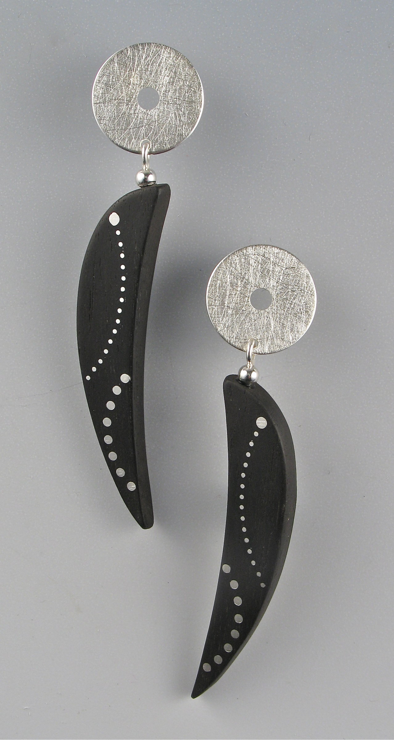 Ebony Crescent Earrings