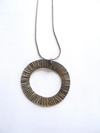 Forged Circle Necklace