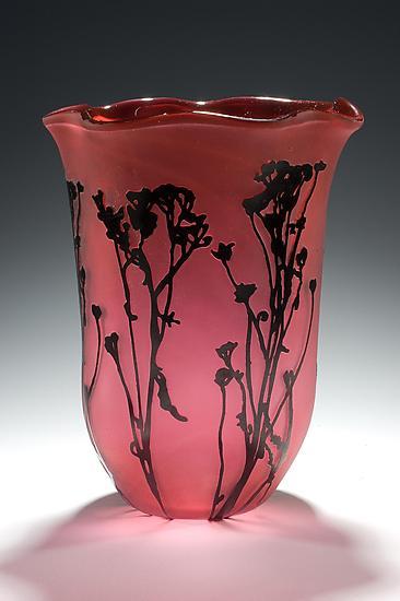 Wildflower Field By Lisa Tate Art Glass Vase Artful Home