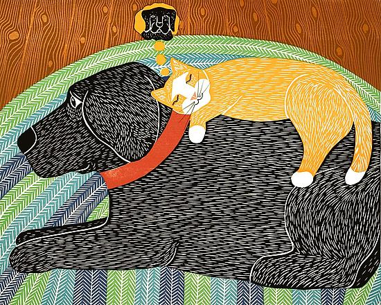 Catnap By Stephen Huneck Giclee Print Artful Home