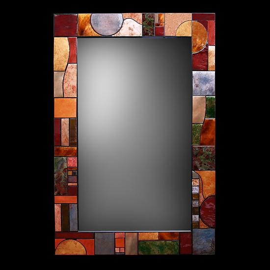 Art Deco Metallic Mirror