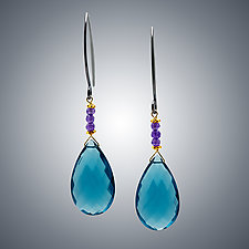 London Blue Quartz and Silver Earrings by Judy Bliss (Silver & Stone Earrings)
