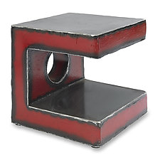 Red C Side Table by Ben Gatski and Kate Gatski (Metal Side Table)