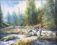 Autumn on the River by Terrece Beesley (Watercolor Painting)