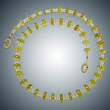 Lemon Citrine and Vermeil Necklace by Judy Bliss (Gold & Stone Necklace)