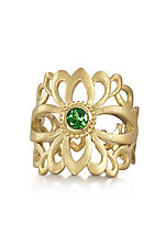 Garden Gate Ring by Diana Widman (Gold & Stone Ring)