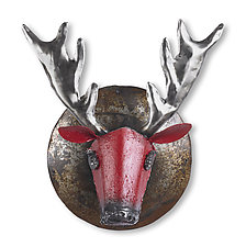 Roxy the Reindeer by Ben Gatski and Kate Gatski (Metal Wall Sculpture)