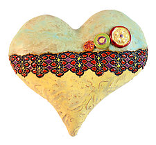 3 Buttons for Bailey by Laurie Pollpeter Eskenazi (Ceramic Wall Sculpture)
