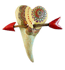 Cori's Kaleidoscope by Laurie Pollpeter Eskenazi (Ceramic Wall Sculpture)