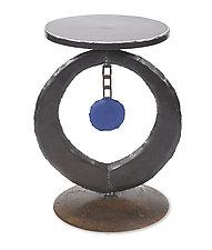 Blue Circle Table by Ben Gatski and Kate Gatski (Metal Side Table)